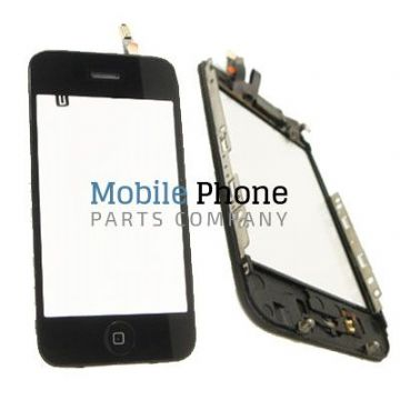 Apple iPhone 3GS Digitiser With Frame - Black